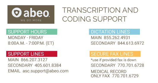 Transcription and Coding Support Lines