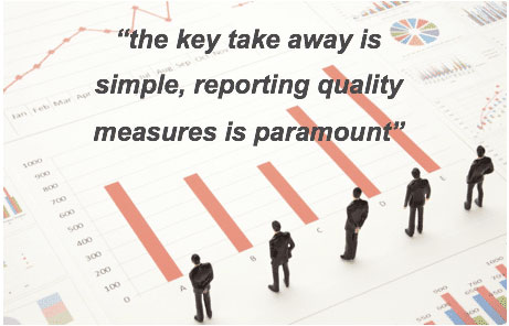 the key takeaway is simple, reporting quality measures is paramount