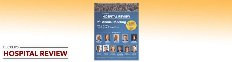 Becker's Hospital Review 2018 meeting brochure