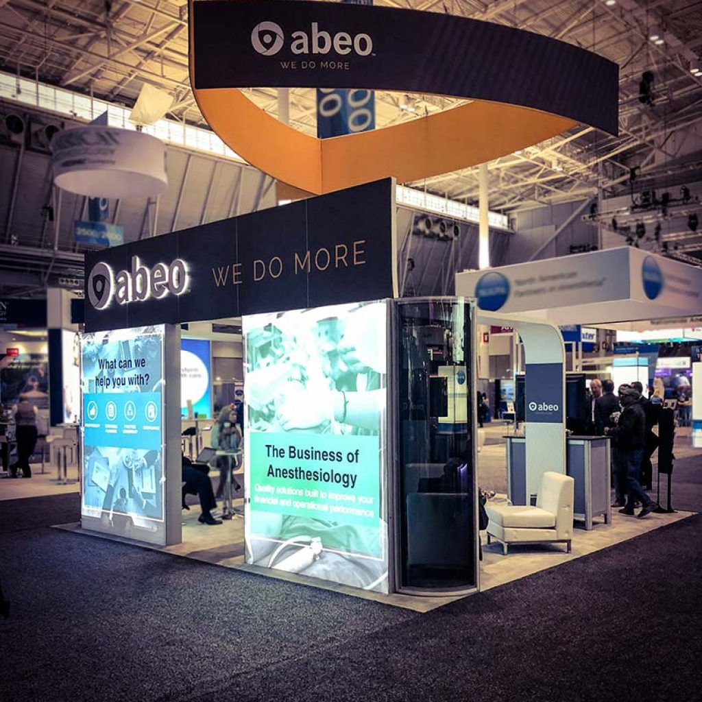 abeo anesthesia conference booth