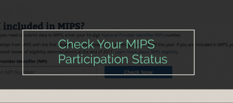 2018 MIPS Eligibility and Low-Volume Threshold Update