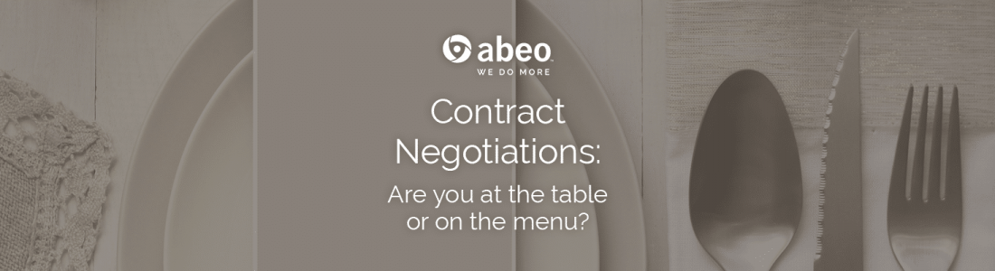 Contract negotiations: If you're not at the table, you're on the menu