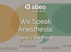 We Speak Anesthesia: Here's the Proof